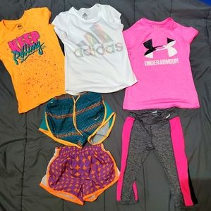 Girls small athletic apparel clothes lot